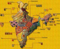 textile map of india designing life: Textile Heritage, India sonamsrivastava.blogspot.com