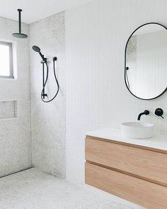 Beach House Bathroom, Downstairs Bathroom, Bathroom Renos, Laundry In Bathroom, Minimalist Room, Minimalist Bathroom, Bathroom Renovation Cost, Bathroom Colors, Modern Bathroom Tile