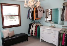 wow, would love to have a room used just for a closet