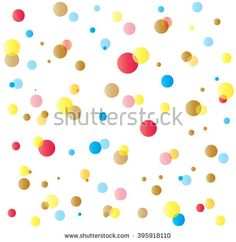 Holiday confetti background with small pieces of colored paper thrown during a celebration such as a wedding. Carnival Abstract digital illustration. Vector file.