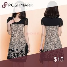 Midi Dress brown/cream/black, good for alll occasions, NWOT Dresses