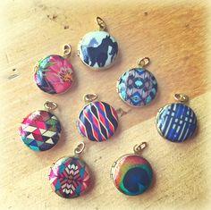 Mini lockets for her bridesmaids. Verabel Jewelry.
