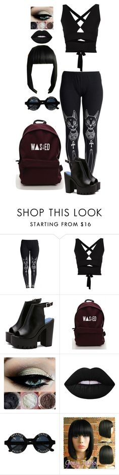 """""""Carmen AD #6/visiting friends"""" by skb5475 ❤ liked on Polyvore featuring WithChic, Proenza Schouler, Lime Crime and Chanel"""