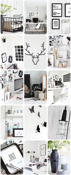 Black and white inspiration. Nice interior. #bw