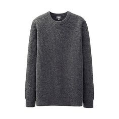 MEN Lambs Blend Rib Crew Neck Sweater