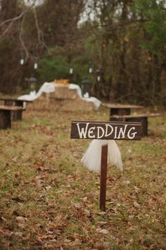 I made signs like this using old wood from a house that was torn down, giving to me by my best friend Sylvia and her husband. Outdoor Rustic Style Wedding