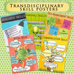 IB Transdisciplinary Skills Poster Set from Celebrate Learning Designs on TeachersNotebook.com (6 pages) - AWESOME transcisiplinary skill posters to display in your IB classroom...very creative!