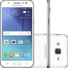"Americanas Samsung Galaxy J5 Duos Dual Chip Tela 5"" 16GB 4G - Branco - Boleto R$ 836,10"