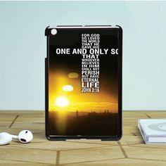 Bible Verse john 3 16 cross iPad Mini 2 Case Dewantary