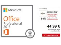 """Allyouneed: Microsoft Office Professional 2016 unter 45 Euro frei Haus https://www.discountfan.de/artikel/technik_und_haushalt/allyouneed-microsoft-office-professional-2016-unter-45-euro-frei-haus.php Für kurze Zeit ist bei Allyouneed jetzt die neueste Office-Suite von Microsoft zum Schnäppchenpreis zu haben: Die Version """"Microsoft Office Professional 2016"""" gibt es für 44,99 Euro frei Haus. Allyouneed: Microsoft Office Professional 2016 für 44,99 Euro frei H"""
