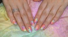#crystalnails #crystalac #gelpolish nr. 35, 36, 58, 142 Crystal Nails, Rainbow Nails, Girly Things, Girly Stuff, Us Nails, Neon Colors, Nails Inspiration, Bellisima, Gel Polish
