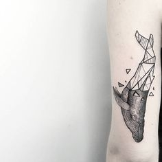 Geometric Whale Tattoo by Matteo Nangeroni