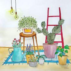 #그림#그림그리기#드로잉#스케치#수채화#일러스트#일러스트레이터#일러스트레이션#수채화일러스트#화분일러스트#화분그림#식물#식물일러스트#가드닝#전시#illustration#illustrator#painting#watercolor#gardening#cactus by eunna_0708