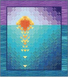 Piece a pretty sunset to display all year long! Make a stunning yet simple quilt to display all day and night in your home. Hang it on your wall, use it as
