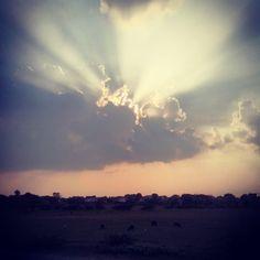 An amazing sunset click at panoli