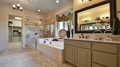 This #master #bathroom is a sweet escape that leads directly into the #oversized #walkin #closet. #shower #bathtub #marble
