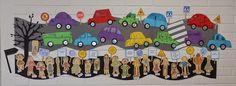 Projekti etenee...   ... tänään saatiin valmiiksi autot ja liikennemerkit. Kaikki autot eivät mahtuneet seinälle, joten suunnitteilla on lis... Transportation Unit, Learning Environments, Crafts For Kids, Kids Rugs, School, Fictional Characters, Anna, Ideas, Hand Crafts