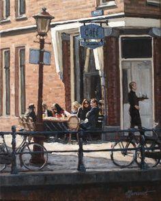 Terrace | oil on canvas painting by Richard van Mensvoort