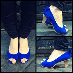 The blue Klein  @ysasuparis #ysasu #bleuklein #SS14 #leathershoes #Paris