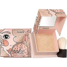 Shop Benefit Cosmetics' Cookie Highlighter at Sephora. A golden-pear, super-silky highlighter. Benefit Cosmetics, Makeup Cosmetics, Sephora, Ruby Rose, Blush Brush, Makeup Brands, Cookies Et Biscuits, Highlights, Makeup Products