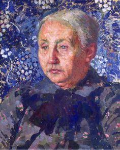Portrait of Madame Monnon, the Artist is Mother-in-Law ,1900, byTheo van Rysselberghe