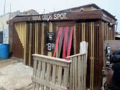 Mama Gee's Spot at Jamestown, in Accra, Ghana, is a friendly place to enjoy a Guinness. Capital Of Ghana, Accra, West Africa, Guinness, Places, Lugares