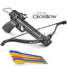 50 lb. Mini Crossbow Pistol Hand Held Gun Archery Hunting Cross Bow w/ 5 Arrows #crossbow