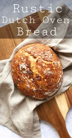 The Best Rustic Bread ever! No kneading required and minimal handling. I& made it like a hundred times and it came out perfect every time! In return you get a rustic loaf of artisan style bread that you get to enjoy right out of the oven! Dutch Oven Bread, Dutch Oven Cooking, Dutch Oven Recipes, Bread Oven, Spelt Bread, Artisan Bread Recipes, Easy Bread Recipes, Baking Recipes, Italian Bread Recipes