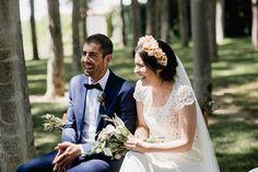 Ceremonia en el bosque. Los novios. Boda rústica. Detallerie Wedding Planners. Ceremony in the woods. Bride and groom.  Rustic Wedding.