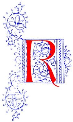 letter r | ... .org/r/1/074-medieval-red-blue-initial-letter-r-301x500.jpg