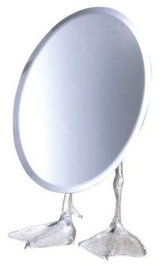 Amazon.com - Kikkerland Duck-Footed Tabletop Vanity Mirror