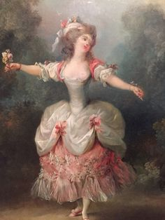 Dancer Holding Flowers by Jean- Frederic Schall New Orleans Museum of Art