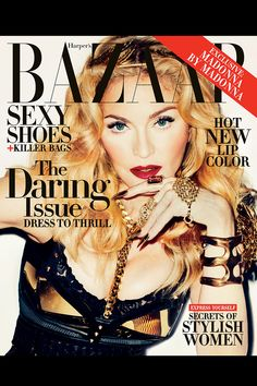 Back in July, Madonna worked together with photographer Terry Richardson on a Harper's Bazaar photoshoot. Since then, Madonna has been teasing pictures from the Terry Richardson, Tapas, Madonna Fashion, Lady Madonna, Image Mode, Madonna Photos, Fashion Magazine Cover, Magazine Covers, Lindsey Wixson