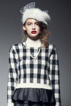 HONEY MI HONEY(ハニーミーハニー)★Block check knit pullover(9月下旬)【14A-AN-14】★ViVi公式ファッション通販|NET ViVi CC
