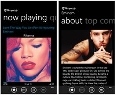 Rhapsody App #Rhapsody #Apps #Mobile #Windows Eminem Now, Eminem Rihanna, You Lied, Windows Phone, How To Become, Apps, Music, Musica, Musik