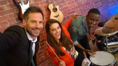 Janez Vermeiren uses his Nokia Lumia 1020 to take a selfie with Lunga Shabalala and Miss SA Rolene Strauss