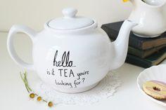 hello...'is it tea you're looking for?'12 Terrific Teapots that Double as Decor via Brit + Co.