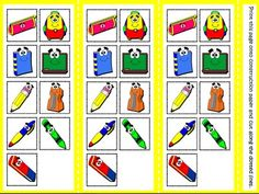 At School - Board Game (Picture Cards)