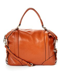Look at this Donna Bella Designs Brown Vivian Leather Satchel on #zulily today!