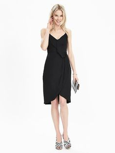 Strappy Drape-Front Dress love it simple but faltering