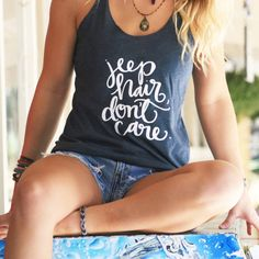 Jeep Hair Don't Care Womens Dark Blue by TheScribbleStudio on Etsy
