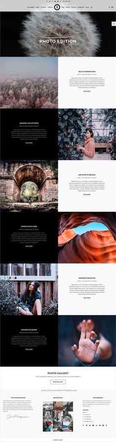 SceneOne is a feature rich responsive theme for professional website with proofing, events, stockphoto galleries, fullscreens, portfol Photography Themes, Photography Website, Amazing Photography, Photography Tutorials, Wordpress Theme, Wordpress Website Design, Web Layout, Site Internet, Web Design Inspiration