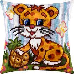 """Купить """"Маленький леопард Z-26"""". Производитель: Чарівниця. Раздел: Наборы для вышивки подушек крестом/Вышивание"""