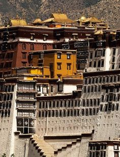 """""""Potala Palace overlooked from Jokhang Temple, Lhasa Tibet. Vernacular Architecture, Ancient Architecture, Nepal, Monuments, Le Tibet, Travel Tours, Bali Travel, Dalai Lama, Les Religions"""