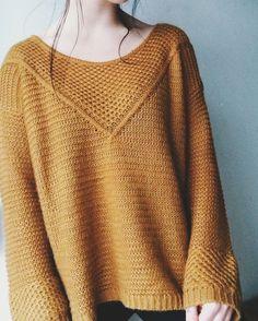Mustard yellow knit fall sweater