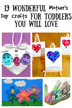 19 Wonderful Mother's Day Crafts For Your Toddler You Will Love - When I think of Mother's Day, I envision cute keepsakes created by little hands.