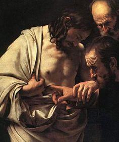 La magnifica Incredulità di San Tommaso di Caravaggio
