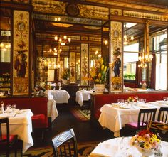 ★ RESTAURANT LE GRAND VEFOUR INTERIOR PALAIS ROYAL PARIS Le Grand Véfour, the first grand restaurant in Paris, France, was opened in the arcades of the Palais-Royal in 1784 by Antoine Aubertot, as the Café de Chartres