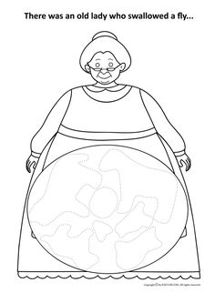 Little Old Lady Coloring Pages Coloring Pages Pinterest