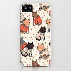 Sweater Cats - by Andrea Lauren iPhone & iPod Case by Andrea Lauren Design - $35.00